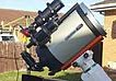 Name:  Celestron 8inch HD Edge with Orion Glass full apeture sun filter.jpg